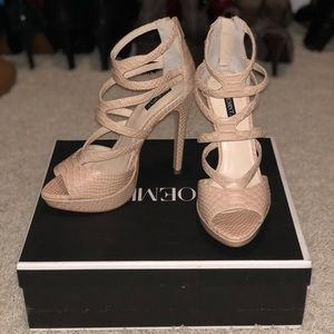 NWT Sexy strappy nude heals by Shoemint
